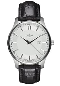 Davosa Men's Classic Analogue Watch 16246615 with White Dial and  40 mm Stainless Steel Case