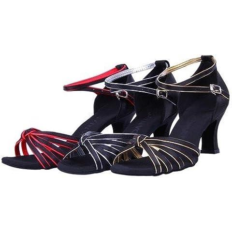 CBIN&HUA Ballo latino donna scarpe sandali romani , red-40 ,
