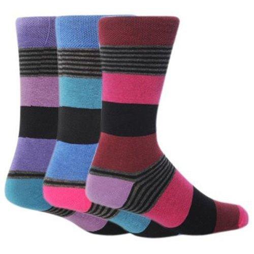 Calcetines modernos a rayas para hombre (pack de 3 pares de calcetines) - 6 opciones