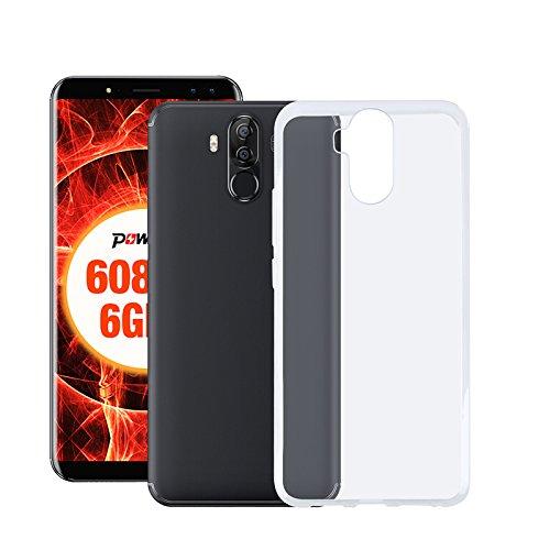 Easbuy Handy Hülle Soft TPU Silikon Case Etui Tasche für Ulefone Power 3/Ulefone Power 3S Smartphone Bumper Back Cover Handytasche Handyhülle Schutzhülle