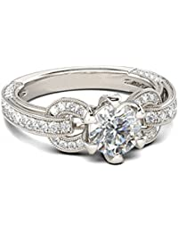 Naitik Jewels 925 Sterling Silver Classical Design Wedding & Engagement Ring For Women
