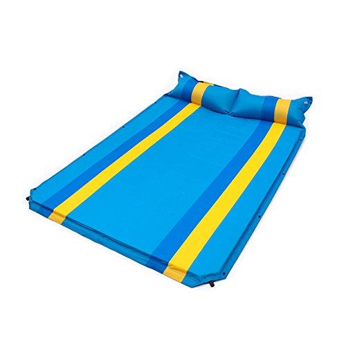 LXLA- Coussin gonflable automatique pliable tapis de pique-nique étanche à l'humidité lit d'air Camping tissu Double tapis sauvage tapis d'extérieur couverture portable épaississent bleu vert 192 * 130 * 3cm