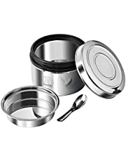 NanoNine Local Byte Double Wall Insulated Stainless Steel Lunch Box with Steel Lid