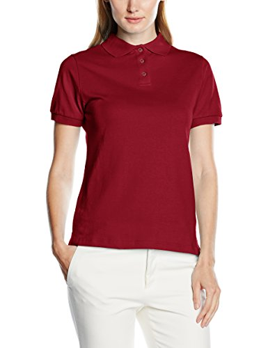 Intimuse Damen Poloshirt, Kurzarm, Rot (Magenta 059), - Frauen Polo-shirts
