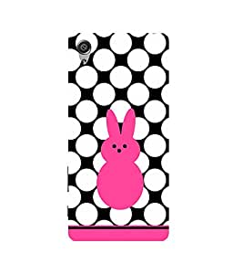 PrintVisa Designer Back Case Cover for Sony Xperia X :: Sony Xperia X Dual F5122 (Animated Cute Pink Rabbit)