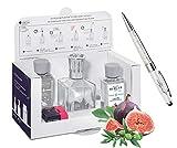 LAMPE BERGER 3098 Frühlingsedition Essentielle Cube Set (inkl. Gärten der Riviera und neutral) + Kugelschreiber mit Swarovski Elements Lieblingsmensch