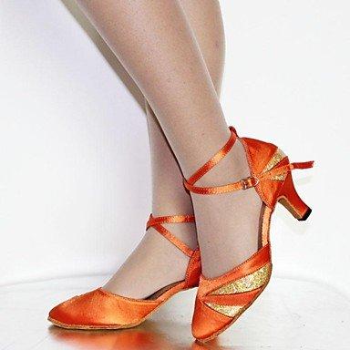 kunstleder Damen Ferse rot schokolade Xiamuo gelb Schwarz Latein Schuhe Satin Angepasste Tanzschuhe standard Burgund Anpassbare