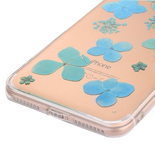 Pour iPhone 7 Epoxy Dripping Pressed Real Dried Flower Soft Transparent TPU Housse de protection JING ( SKU : Ip7g2996f ) Ip7g2996k