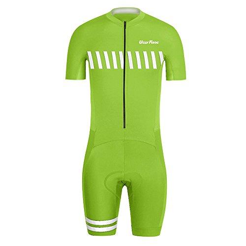 Uglyfrog Bike Wear Radsport Bekleidung Herren MTB Triathlon Tri Suit Schnell Trocknender Skinsuit Atem Triathlon Rennanzug Kurzarm/Lange Ärmel Summer Style -