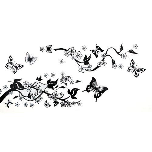 wall-sticker-carta-parati-adesivo-decal-farfalle-fiori
