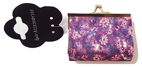 Ministry Of Trend , Portamonete Bimbe' donna da ragazza', (Floral Purple), 8 cm