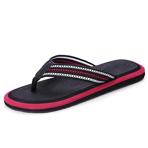 Pantofola uomo d'estate, scarponi sandali con piedini scarpe da spiaggia antiscivolo pattini a piedini pantofole a piede albergo grande in camera slipper ( colore : b , dimensioni : 28 centimetri )