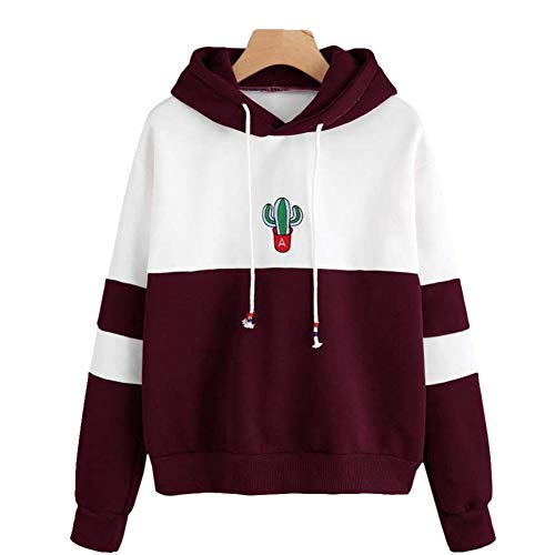 Used, Filfeel Women Stylish Hoodie Sweatshirt, Print Cactus for sale  Delivered anywhere in Ireland