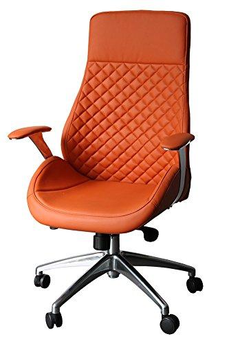 "212604 Bürodrehstuhl Designer Drehstuhl Chefsessel\""GT\"" orange Racer Car Seat"