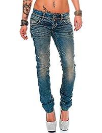 Cipo Baxx Sexy Damen Jeans Stretch Röhre Hose Slim Stright Fit Skinny Hüftjeans Casual verschiedene Varianten Styles