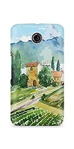 Casenation Vineyard Painting Motorola Nexus 6 Matte Case