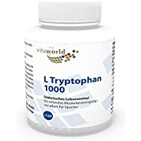 Vita World L-Tryptophan 1000mg 120 Tabletten Made in Germany L Tryptophan Aminosäure Serotonin preisvergleich bei fajdalomcsillapitas.eu