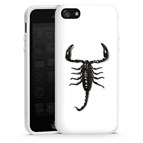 Apple iPhone 4 Housse Étui Silicone Coque Protection Scorpion Scorpion Noir Housse en silicone blanc