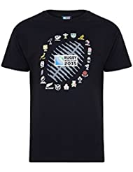 RWC 2015 Rugby 20 Nations Ball Graphic Tee (Black)