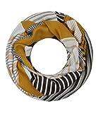 Majea NEUE Saison Damen Loop Schal viele Farben Muster Schlauchschal Halstuch in aktuellen Trendfarben (senf-gelb 14)