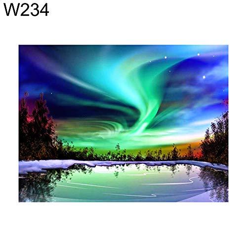 MajglgE Diamantmalerei, 30 x 40 cm, Skyscape Mond, See, Himmel, Kreuzstich DIY Full Round Diamond Painting W234 -