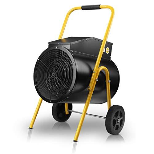 Radiateurs électriques Appareils de Chauffage industriels à Haute Puissance DE 15 000 Watts, 380 Volts, étanches - Élément Chauffant en Acier Inoxydable - Thermostat à économie d'énergie (Jaune Noir)