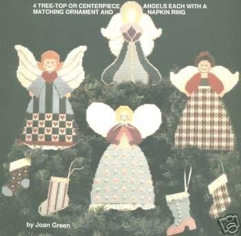 Heavenly organismes (anges plastique Toile point de croix Motif toise