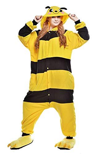 Pyjamas Bekleidung Animal Erwachsene Unisex Schlafanzüge Karneval Onesies Gelb Bienen Cosplay Jumpsuits Anime Pajamas Hoodie Carnival Spielanzug Kostüme Weihnachten Halloween Nachtwäsche