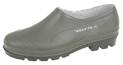 Dunlop jardinería Zapato , zueco , goloshes. Impermeable Unisex Tallas 3-11 GB - Verde, 8 UK