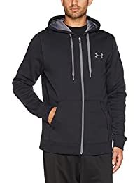 Under Armour Herren Rival Fitted Full Zip Oberteil, Schwarz