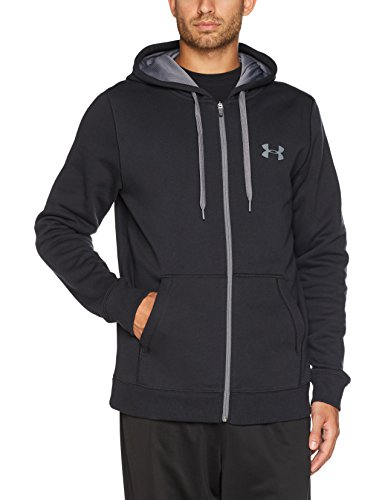 Under Armour Herren Rival Fleece Fitted Full Zip Hoodie (Fleece Rugby Baumwolle)