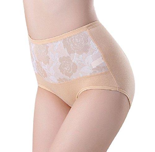 Ularma Taille haute coton femmes slips culottes sains Sexy Lingerie Plus Size Peau