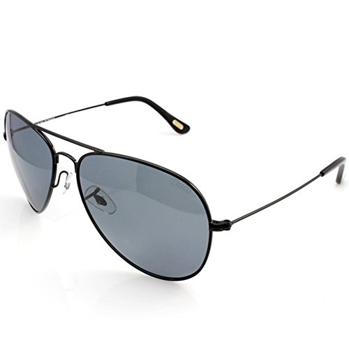 DUCO Polarisierte Pilotenbrillen Unisex 100% UV 400 Schutz 3025 (Schwarz)