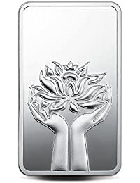 MMTC-PAMP India Pvt. Ltd. Lotus Series 999.9 purity 100 gm Silver Bar