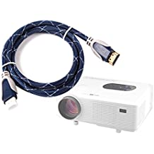 DURAGADGET Cable HDMI De Audio Y Vídeo para Proyector Excelvan RD-801 2000 | UC28 | Uc30 | UC40 Mini LED - 1.4m - Conexiones Chapadas En Oro - Alta Calidad HD