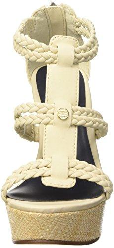 Tommy Hilfiger SM B1285EATRICE 2, Scarpe Col Tacco con Cinturino a T Donna Beige (Creme Brulee 769)