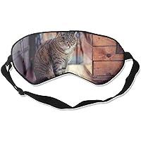 Eye Mask Eyeshade Cat Sitting Sleep Mask Blindfold Eyepatch Adjustable Head Strap preisvergleich bei billige-tabletten.eu