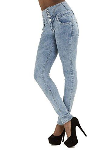 LustyChic Damen Skinny Jeanshose Blau