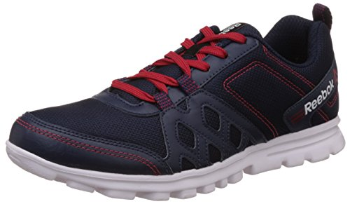 Reebok Men's Run Fusion 2.0 Dark Blue, Red and White Running Shoes – 9 UK 41v8NuNSHIL