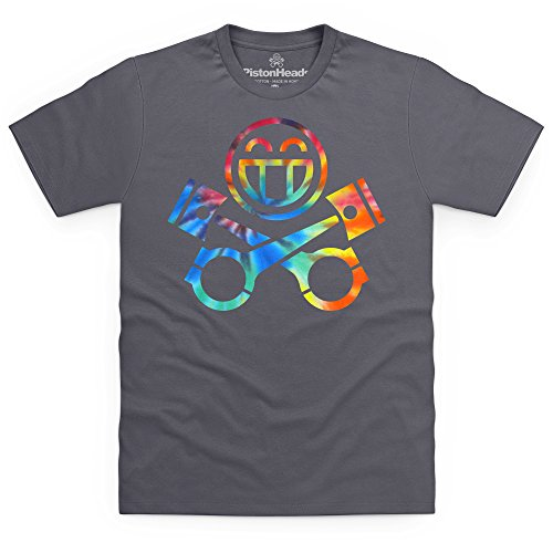 PistonHeads Smiley Multi T-Shirt, Herren Anthrazit