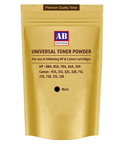 AB Universal Toner Powder for HP 88A, 85A, 78A, 36A, 35A Canon 925, 312, 325, 328, 712, 725, 728, 125, 128  available at amazon for Rs.322