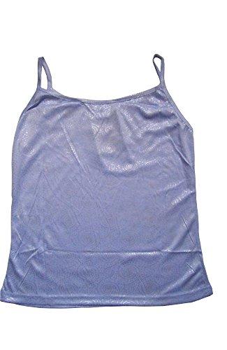 HO-Ersoka Spaghettiträger Top Shirt Damen glänzend 100% Baumwolle versch. Trendfarben und Motive flieder/Spirale