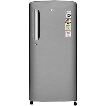 LG 190 L 3 Star Direct Cool Single Door Refrigerator(GL-B201ADSW ADSZEBN,  Dazzle Steel, Inverter Compressor)
