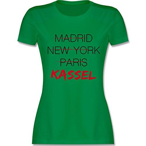 Shirtracer Städte - Weltstadt Kassel - Damen T-Shirt Rundhals Grün