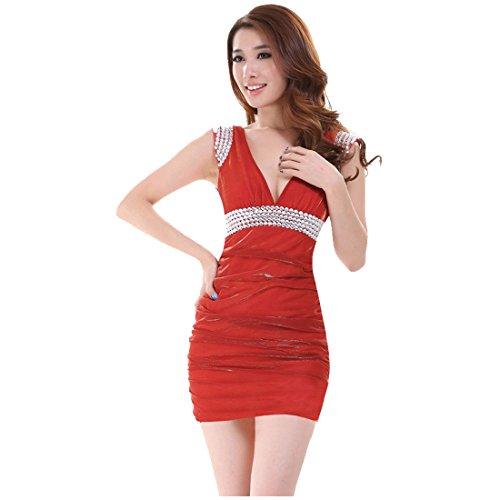 Partiss - Robe - Slim - Femme Rouge - Rouge