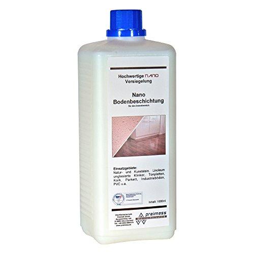 1 Liter Nano Bodenbeschichtung (Glanz) Laminat-Versiegelung Parkett-Beschichtung Fliesen-Beschichtung PVC Linoleum Naturstein Klinker (Fleck-entferner-maschine)