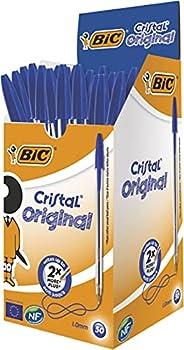 Bic 8373601 Penna med 1,0 mm Spets, 50 stycken, Blå