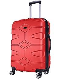 SHAIK Serie RAZZER Maletas De Viaje Candado TSA 50/80/120 Capacidad De litros Cubierta Dura Y Flexible Equipaje De Mano con Ruedas 360⁰ De Rotación