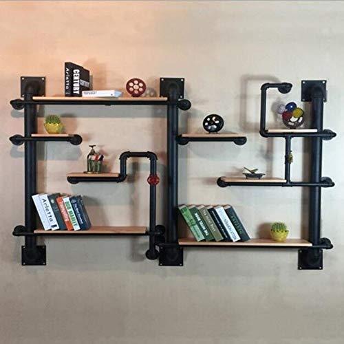 BinLZ Regal Bücherregal Loft Wasserpfeife Eisengestelle Laden Ausstellungsstand Weinregal Sehr Haltbar, 200 × 20 × 120 cm -