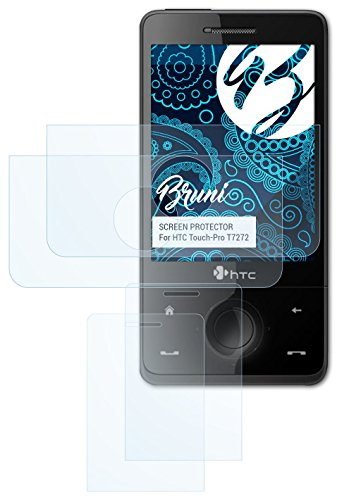 Bruni HTC Touch-Pro T7272 Folie - 2er Set glasklare Displayschutzfolie Schutzfolie für HTC Touch-Pro T7272